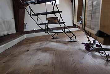 Vloerenhal Montfoort houten vloer demo