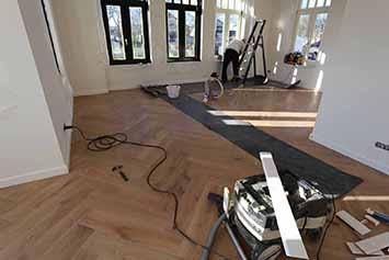 Vloerenhal Montfoort houten vloer in woonkamer
